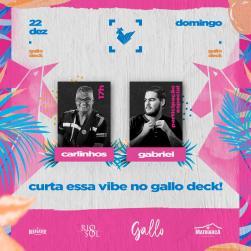 panfleto Carlinhos + Gabriel