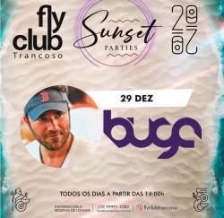panfleto FlyClub Sunset Parties: Buga