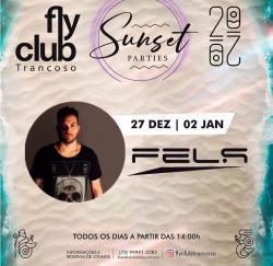 panfleto FlyClub Sunset Parties: Fels