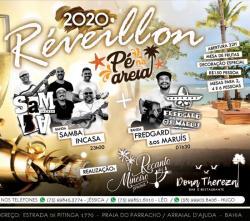 panfleto Reveillon Pé na Areia 2020