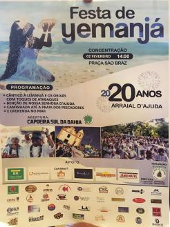 panfleto Festa de Yemanjá em Arraial
