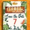 panfleto Samba na Praia