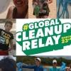 panfleto #GlobalCleanupRelay - Mutirão de Limpeza