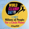 panfleto #WorldCleanupDay - Dia Mundial da Limpeza