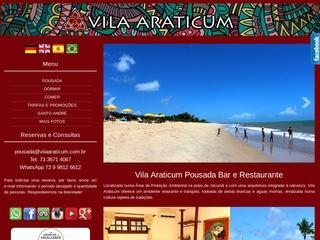 panfleto Restaurante da Vila Araticum
