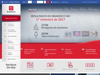 panfleto Banco Bradesco S/A