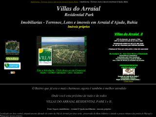 panfleto Imobiliárias Villas do Arraial