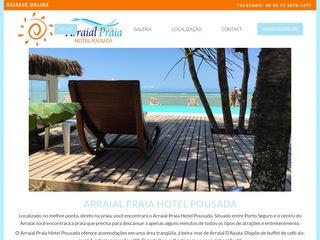 panfleto Arraial Praia Hotel Pousada