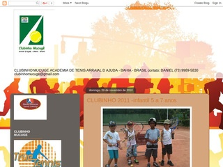panfleto Clubinho Mucugê - Academia de tenis